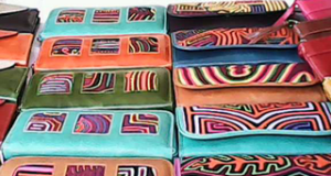 a colorful handbags