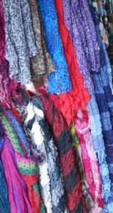 Small sampling of scarves in Colombia