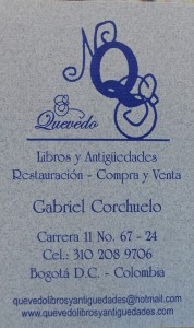 Quevedo business card