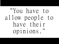 People opinions