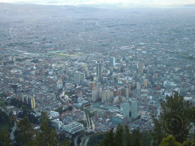 Bogotá as seen from Monserrati